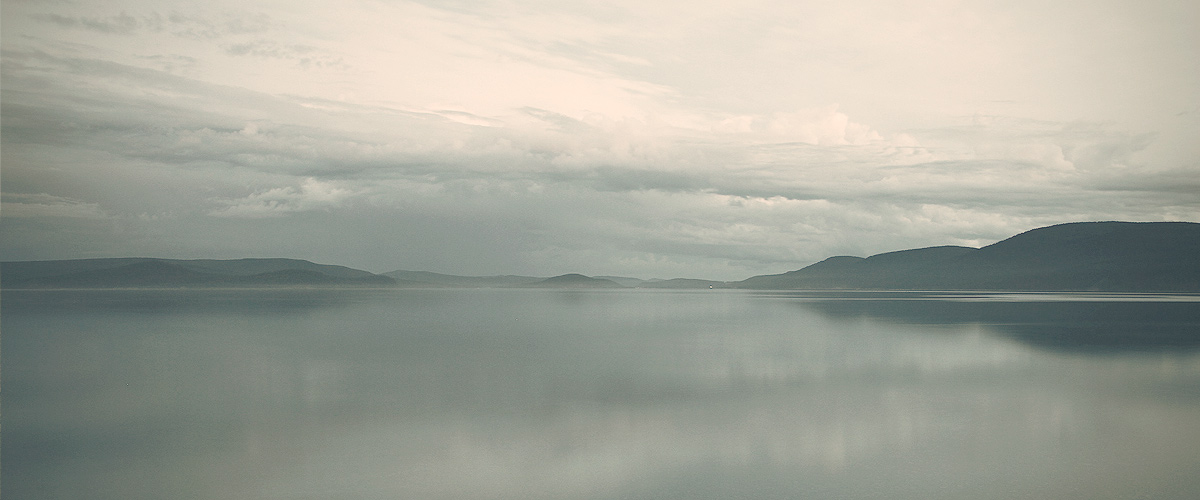 Fog over Huvsgul Lake in Mongolia