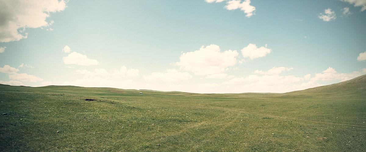Grassland in Mongolia